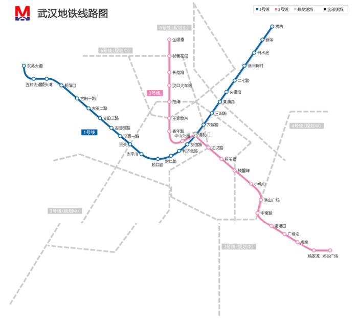 武汉地铁图图片